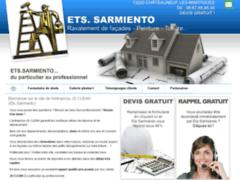 Création du site Internet de Ets Sarmiento (Entreprise de Couvreur à CHATEAUNEUF-LES-MARTIGUES )