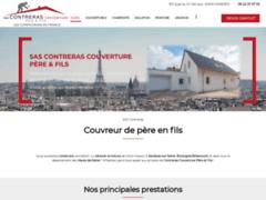 Création du site Internet de SAS CONTRERAS Couverture Père & Fils (Entreprise de Couvreur à ASNIERES )