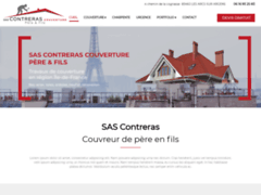Création du site Internet de SAS CONTRERAS Couverture Père & Fils (Entreprise de Couvreur à PARAY VIEILLE POSTE )