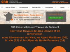 Création du site Internet de S.B.B Constructions et Travaux du Batiment (Entreprise de Constructeur de maison à MALAUSSENE  )
