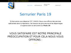 Création du site Internet de SJ Batiment (Entreprise de Serrurier à PARIS )