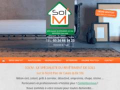 Création du site Internet de SOL'M (Entreprise de Carreleur à TEMPLEUVE EN PEVELE )
