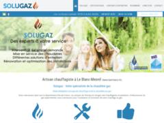 Création du site Internet de Solugaz (Entreprise de Chauffagiste à LE BLANC-MESNIL )