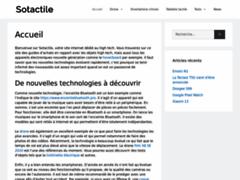 Sotactile - Boutique en ligne high tech