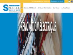 Création du site Internet de Sydelec (Entreprise de Electricien à LILLE  )