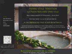 Création du site Internet de PIERRE STYLE TRADITION (Entreprise de Marbrier à BEAUVOISIN )