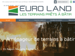 Création du site Internet de Euro Land (Entreprise de Diagnostiqueur à PARENTIS EN BORN )