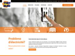 Création du site Internet de Testelec (Entreprise de Electricien à CHAMPIGNY SUR MARNE  )