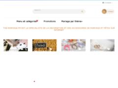 Détails : Boutique de vente d'accessoires déco de mariage