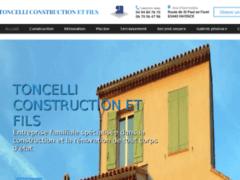Création du site Internet de TONCELLI CONSTRUCTION ET FILS (Entreprise de Constructeur de maison à FAYENCE )