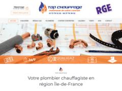 Création du site Internet de TOP CHAUFFAGE (Entreprise de Chauffagiste à AUBERVILLIERS )