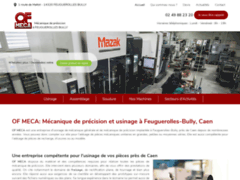 Détails : OF MECA: Mécanique de précision et usinage à Feuguerolles-Bully
