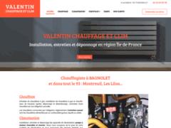Création du site Internet de VALENTIN CHAUFFAGE ET CLIM (Entreprise de Chauffagiste à BAGNOLET )