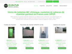 Détails : Un site hors pair spécialisé dans la vente de w.c. chimique et de cabanes de chantier