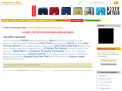 Détails : Vente en ligne de vêtements moins chers