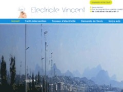 Création du site Internet de Electricité Vincent (Entreprise de Electricien à VILLENEUVE-LOUBET )