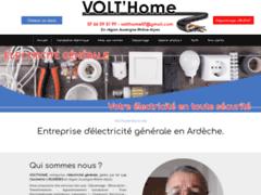 Création du site Internet de VOLT'HOME (Entreprise de Electricien à PERTUIS )