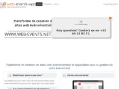 Détails : Web-events : Application pour sites web événementiels