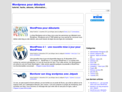 Wordpress pour débutant - Débuter avec wordpress