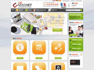 123-Magnet ~ Impression de magnet publicitaires