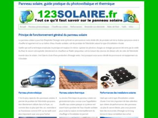 Détails : 123solaire, le spécialiste de l'information sur les panneaux solaires