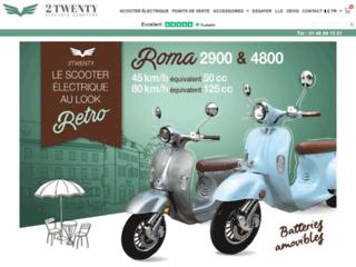 2Twenty, des modèles de scooter électrique au look original