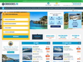 Site de réservation en ligne des voyages en croisières