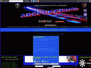 Détails : ABCPokerInfo, forum et communauté de poker en ligne