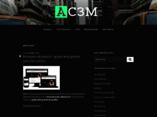 Référencement gratuit de sites sur l'annuaire AC3M