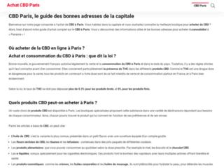 Achatcbdparis.fr : l'annuaire des boutiques de CBD à Paris