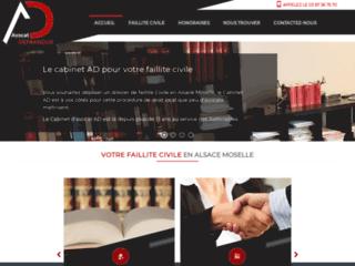 Détails : Avocat faillite civile alsace moselle : cabinet AD
