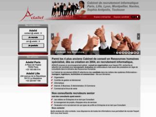 Détails : Adalid, cabinet de recrutement en informatique