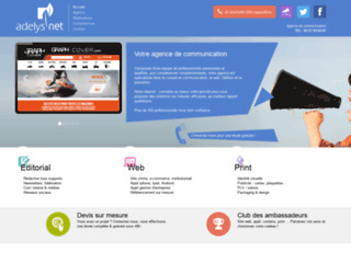ADELYSNET - Agence de communication - création de sites web, applis mobile sur mesure, référencement au meilleur rapport qualité/prix