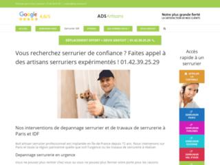 Ads artisans : entreprise de serrurerie à Paris et en Ile de France, un service de qualité