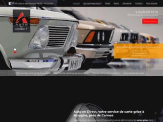 Auto en Direct, service de carte grise à Mougins