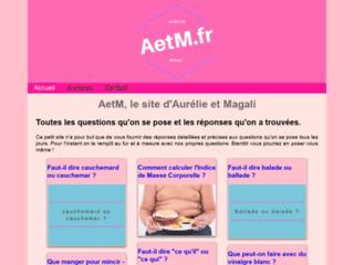 AetM, le site d'Aurélie et Magali