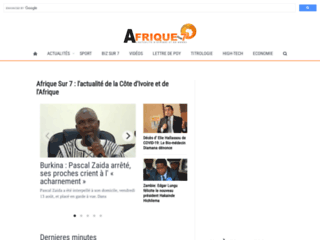 La revue de presse ivoirienne sur Afrique sur 7