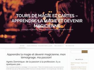 Magicienne professionnelle agnès dominique tours de magie