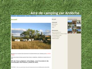Aire de camping-car Ardèche
