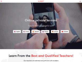 Apprend l'anglais en ligne grâce à Albert