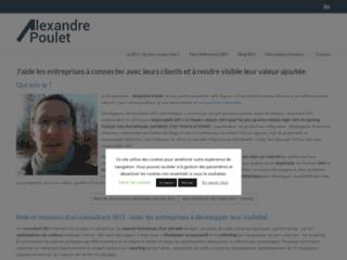 Détails : Alexandre Poulet, Consultant SEO freelance et Webmarketing à Paris