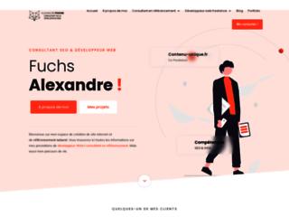 Création de site internet par Alexandre Fuchs Web-Développeur