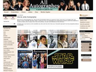 Détails : Autographe sur all-autographes.com