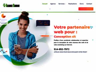 Détails : Alliance Bambou, conception de sites web professionnels