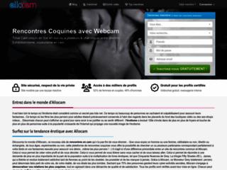 Détails : Allocam, rencontres et livecam pour adultes
