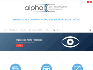 Alpha communication impression