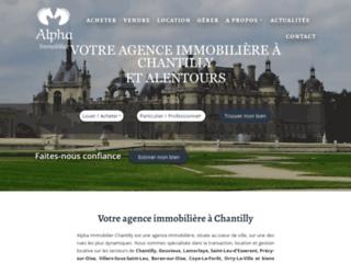 Agence immo chantilly