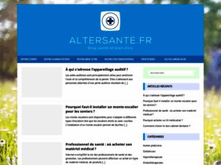 Détails : Alter Santé, blog sur le bien-être et la santé