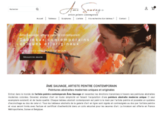 Détails : Tableau abstrait, peintre française Âme Sauvage