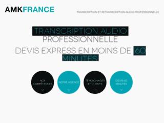 Détails : AMK France, transcription et retranscription fichier audio